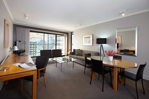Adina Sydney Apartment Hotel Premier Two Bedroom Lounge Room